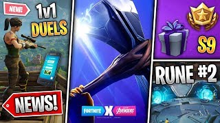 1v1 Duels, Battlepass Gift, Avengers Teaser 2 Thor, Rune 2 Activated! (Fortnite News)