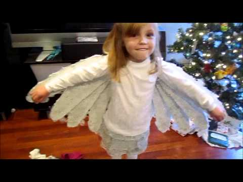 Demo of Giannas Christmas Dove Costume with movable wings