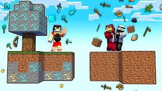 Minecraft SKYBLOCK pero CAEN COSAS del CIELO 😂 SKYBLOCK NOOB VS PRO
