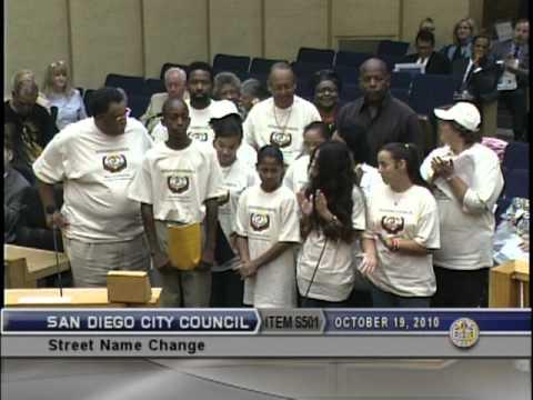 San Diego City Council Meeting 10.19.2010 MLK Way Broadway ...
