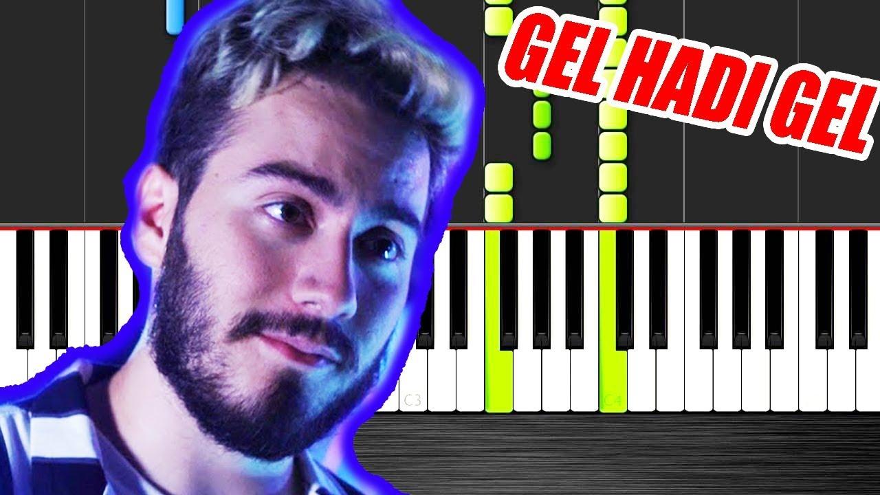 Enes Batur Feat Kaya Giray Gel Hadi Gel Piano Tutorial By Vn Youtube
