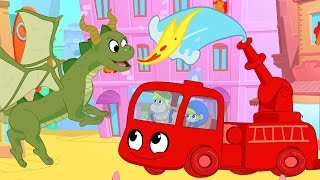 Firetruck Morphle meets A Dragon! My Magic Pet Morphle Cartoon Episodes for Kids