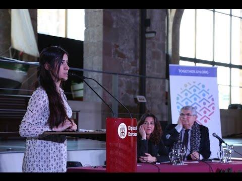 Activista Nadia Murad rep el 37è Premi per la Pau a Barcelona