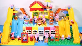 Peppa Pig Lego House Creations Toys - Lego House With Water Slide Toys For Kids #6