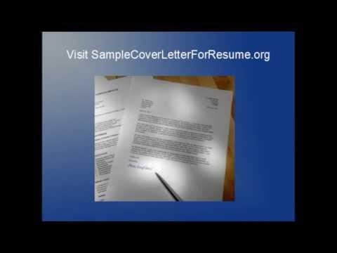 Sample Cover Letter For Resume - Free Cover Letter Templates - Sample Cover Letter