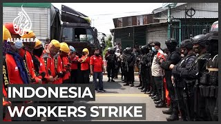 Indonesia Workers Protest Against Exploitative New Law