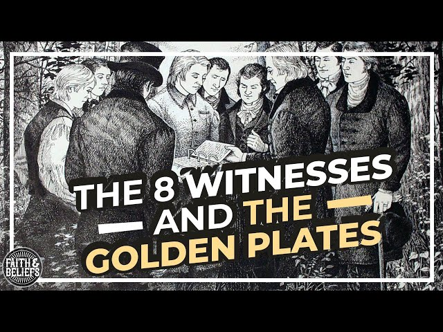 Did the 8 Witnesses actually see and handle the golden plates?