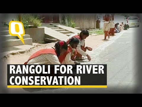 Coimbatore Students Make Rangoli for River Conservation | The Quint