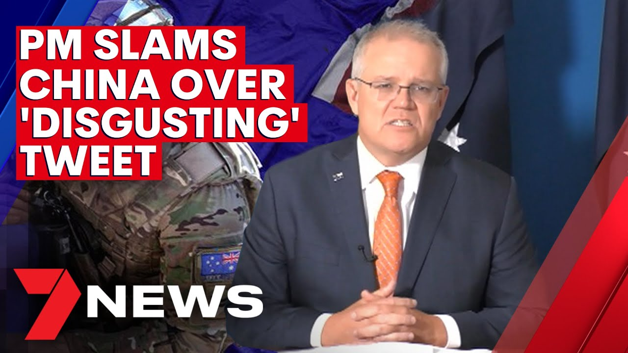 Prime Minister Scott Morrison slams Chinese government over 'disgusting' Twitter post | 7N