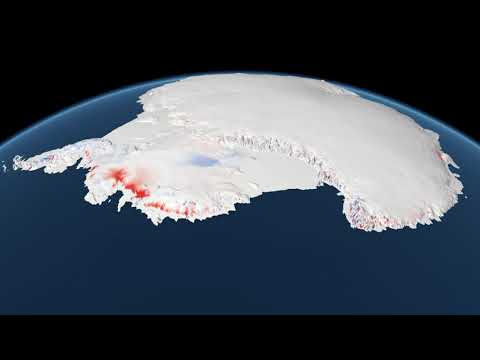 How the Antarctic Ice Sheet has changed from 1992-2017