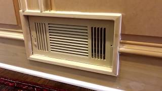 How to handle HVAC register in raised panel wainscoting