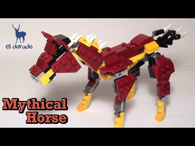 LEGO CREATOR 3in1 31073 Mythical Horse - Alternate MythicCreat - SpeedBuild ConstructionToy/eldorado