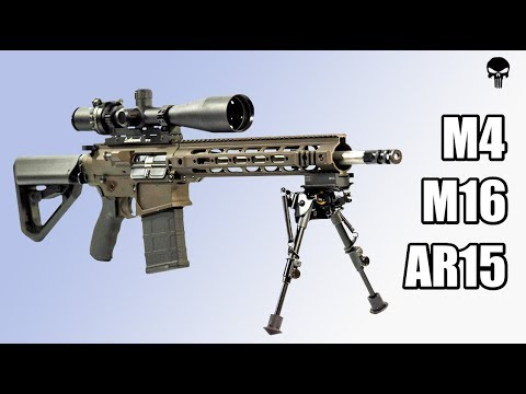 М4, М16, АР15. Все модели винтовок с 1962 по сегодняшний день