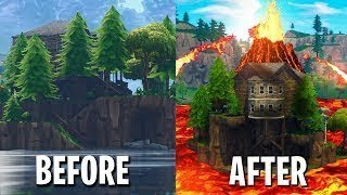 FORTNITE VOLCANO EVENT IN LOOT LAKE *Glitch* - Fortnite Funny & Best Moments! #38 (Daily Moments)