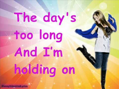 Miley Cyrus-Breakout (Lyrics)