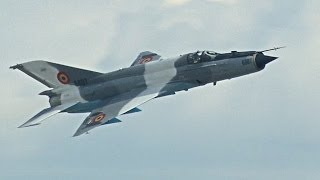 Radom Air Show 2013 - MiG-21MF Lancer C - solo display - Romanian AF,