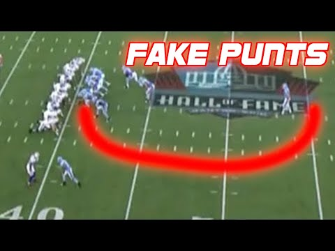 NFL Best Fake Punts Ever (Compilation)