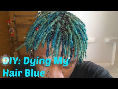 diy dying my hair blue dreadlocks mierejuana youtube