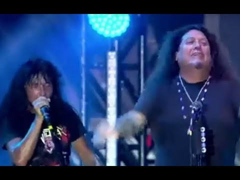 TESTAMENT's Chuck Billy joined ANTHRAX for Indians live on Oct 4 in Brazil