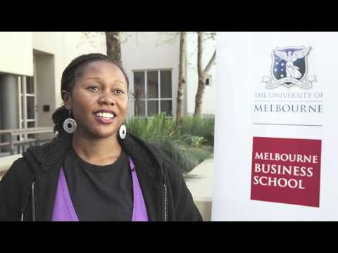 Why Melbourne Business School? Jenny Kahirimbanyi