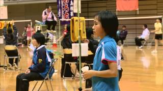 女子シングルス 4年生以下 川床美都希(福岡県) vs 小野涼奈(群馬県)