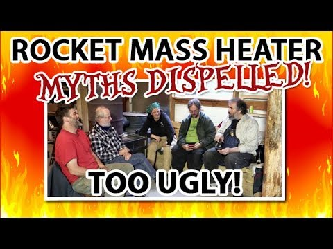 Rocket Mass Heater Myths:  they are too ugly; they don't go with my couch/drapes/spouse