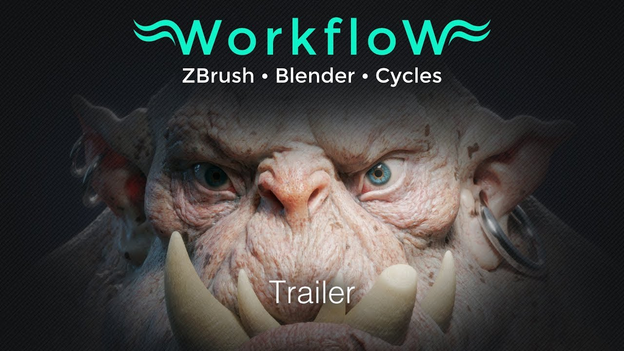 Workflow ZBrush Blender Cycles (Trailer)