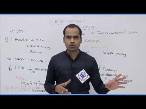 Measurement Physics Part-1 Pre foundation Std 7th video lecture