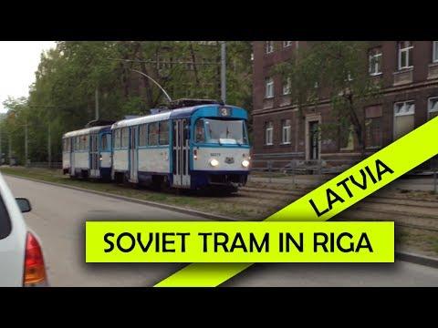 Soviet Tram Tatra T3A in Riga, Latvia