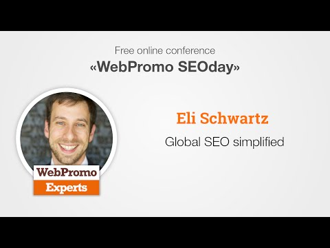 Global SEO simplified by Eli Schwartz