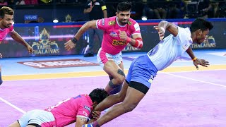 Pro Kabaddi 2019 Highlights | Tamil Thalaivas  vs Jaipur Pink Panthers | Hindi M52