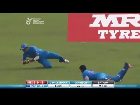 Fantastic One Handed Catch By Indians In Under 19 World Cup