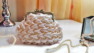 DIY Clutch purse /wedding purse / Bridesmaid purse bag in ivory silk