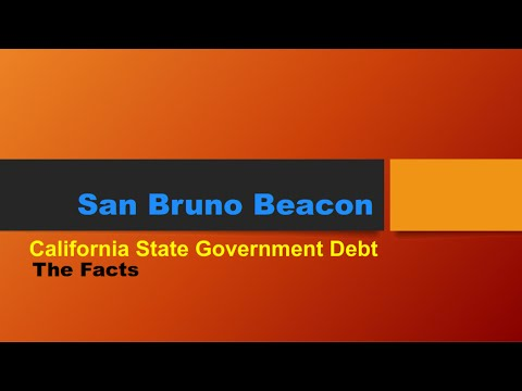 California State Government Debt - The Facts