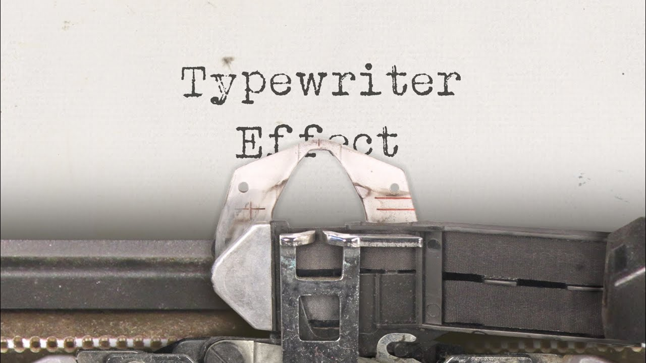 Typewriter Effect for After Effects
