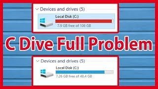 How To Solve Automatically C Drive Full Problem Windows 10