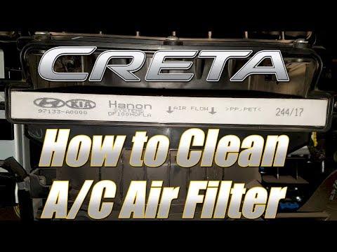 Hyundai Creta : DIY Cleaning Air filter of air conditioner system :SMARTDrive