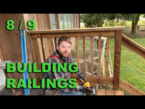 Stairs and Porch Repair  -  Part 8 - Construction of railings.