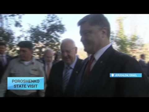 Ukrainian President Petro Poroshenko meets Israeli leadership in Jerusalem