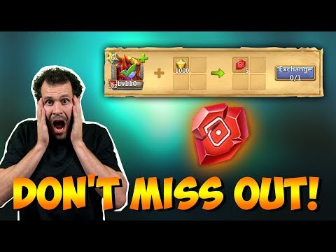 FREE Level 9 Talent Runes For F2P DONT MISS OUT! Castle Clash