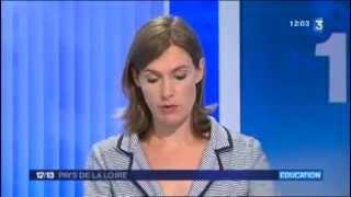Reportage France 3 sur e-primo, ENT des écoles primaires de l'Académie de Nantes