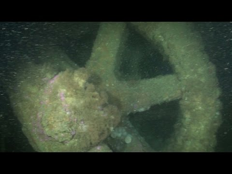 Underwater video of a shipwreck formerly thought to be the Netley Abbey