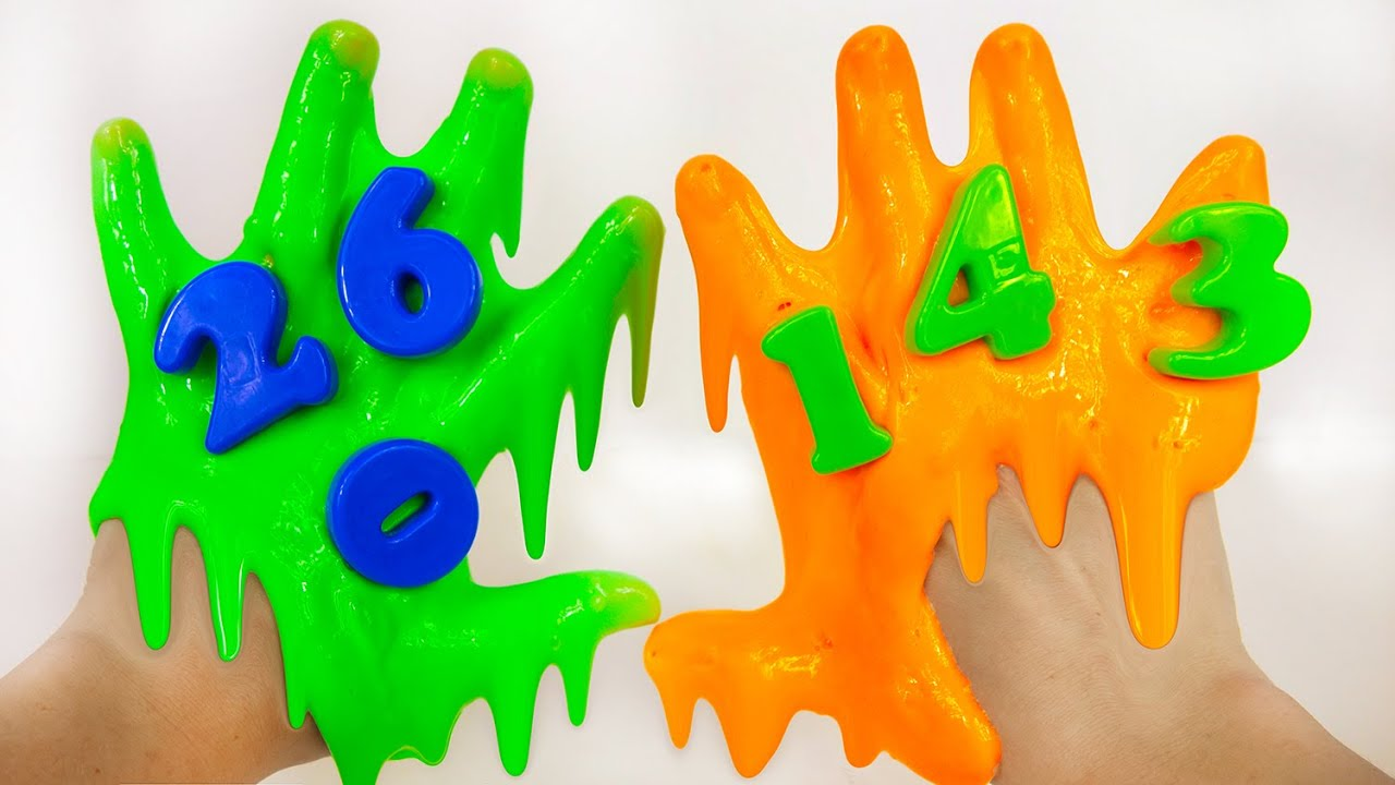 Learn Numbers for Toddlers 1-10 with Noise Putty Slime - YouTube