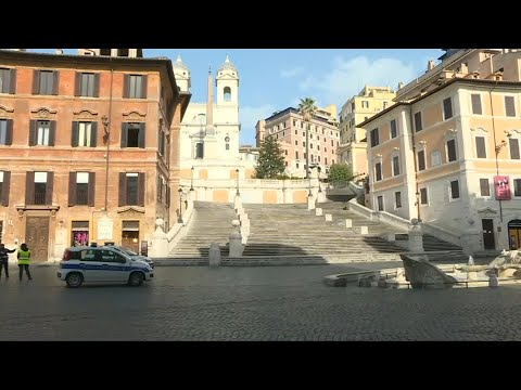 AFP News Agency: Coronavirus: Piazza di Spagna in Rome almost deserted as death toll surpasses 10,000 | AFP