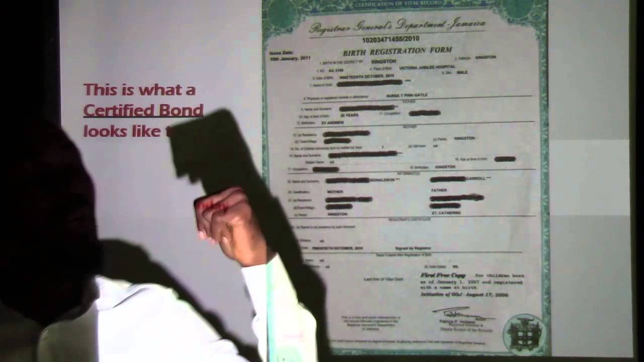 Your jamaican birth certificate is a bond promo youtube xflitez Choice Image
