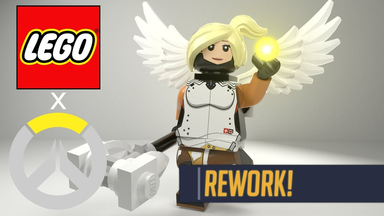 LEGO Mercy Minifig Decal Remaster Overwatch YouTube