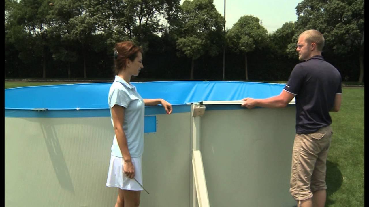 Piscina Desmontable de Acero Hydrium Oval 500x360x120 cm Bestway 56583
