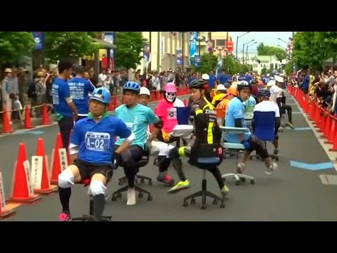 None - Office Chair Grand Prix Is A Thing In Japan