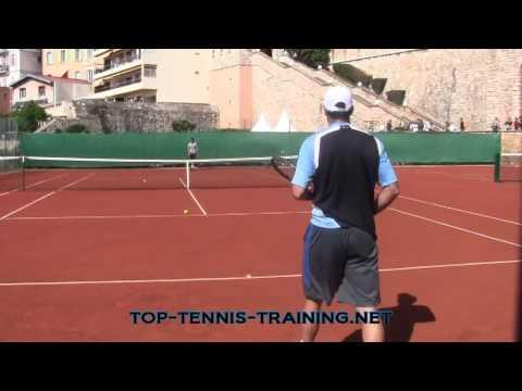 Nicolas Almagro Training (Court Level View)