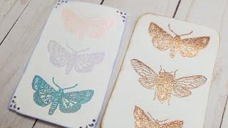 Heat Embossed Journaling Cards.
